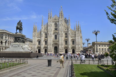 Milan Cathedral (Duomo), Piazza Del Duomo, Milan, Lombardy, Italy, Europe Photographic Print by Peter Richardson