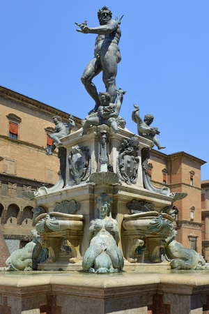 Neptune Fountain, Piazza Del Nettuno, Bologna, Emilia-Romagna, Italy, Europe Photographic Print by Peter Richardson