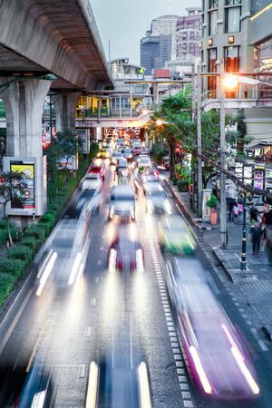 Sukhumvit Road Traffic in Rush Hour, Bangkok, Thailand, Southeast Asia, Asia Photographic Print by Alex Robinson