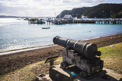Old Cannon Used to Defend Russell in 1845, Bay of Islands, Northland Region Photographic Print by Matthew Williams-Ellis