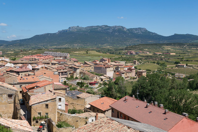 Rooftops in San Vicente De La Sonsierra, La Rioja, Spain, Europe Photographic Print by Martin Child
