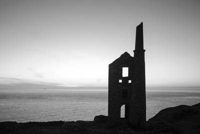 Old Tin Mine Workings, Botallack, Pendeen,Cornwall, England Fotografisk tryk af Paul Harris