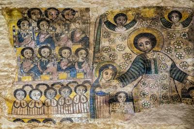 Ethiopia, Abraha Atsbeha, Tigray Region. the Interior of the 10th Century Church of Abraha Atsbeha Photographic Print by Nigel Pavitt