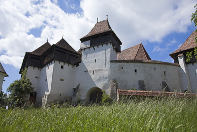Romania, Transylvania, Viscri. the Fortified Saxon Church in the Village of Viscri. Photographic Print by Katie Garrod