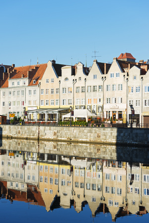 Europe, Poland, Gdansk, Canal Side Houses Photographic Print by Christian Kober