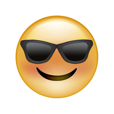 Emoji Sun Glasses Giclee Print by Ali Lynne