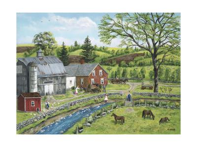 Stoney Brook Farm Giclee Print by Bob Fair
