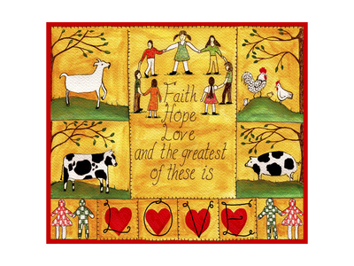 The Greatest of These is Love Lang Giclee Print by Cheryl Bartley
