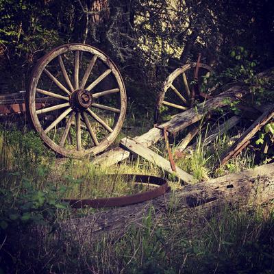 Wagon Wheels Photographic Print by Lance Kuehne