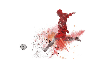 Soccer Player 01 Giclee Print by Marlene Watson