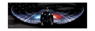 No Greater Love Police to Protect and to Serve Giclee Print by Jason Bullard