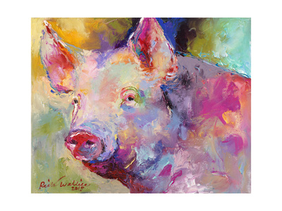 Piggy Giclee Print by Richard Wallich