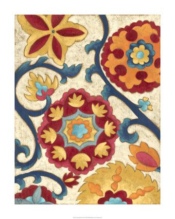 Suzani Splendor I Premium Giclee Print by Chariklia Zarris