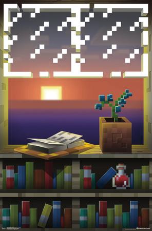 Minecraft- Window View Poster