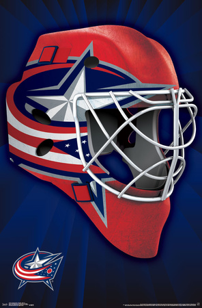 NHL: Columbus Blue Jackets- Logo Mask 16 Print