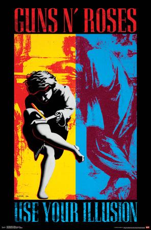 Guns n' Roses- Illusion Cover Art Posters