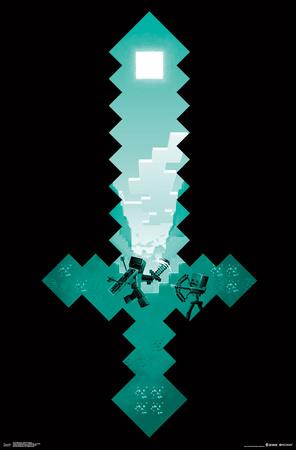 Minecraft- Diamond Sword Battle Sight Posters