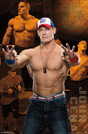 WWE- John Cena Action Collage Posters