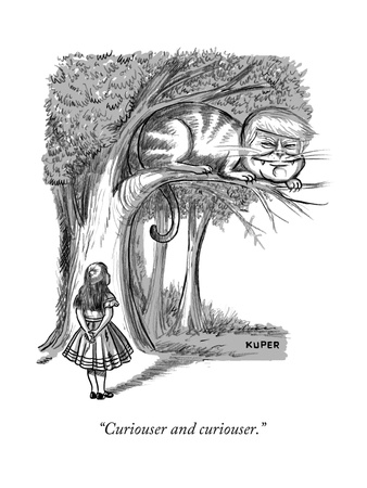 """""""Curiouser and curiouser."""" - New Yorker Cartoon Giclee Print by Peter Kuper"""