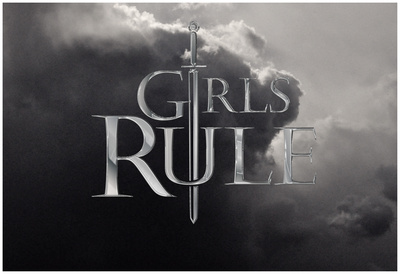 Girls Rule- Epic Horizontal Sword Póster