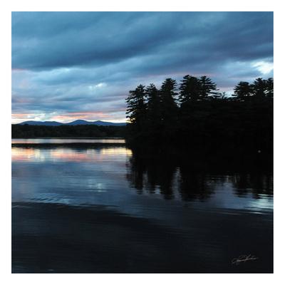 Sunset Lake Pink 2 Poster by Suzanne Foschino