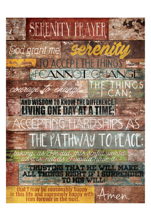 Serenity Prayer Poster by Jace Grey