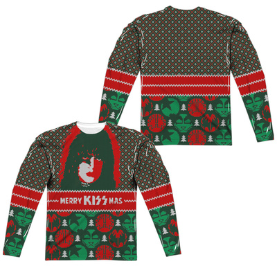 Long Sleeve: Kiss- Starchild Kissmas Sweater (Front/Back) T-Shirt