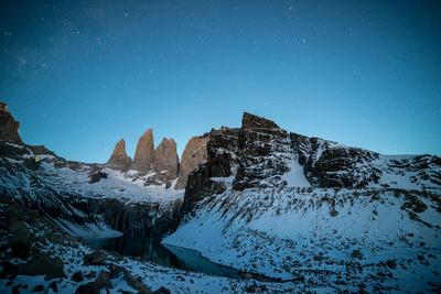 Granite Peaks of Torres Del Paine at Night Photographic Print by Jordi Busque