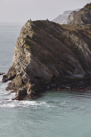 Cliffs at Lulworth Cove, in the Jurassic Coast World Heritage Site, Dorset, Great Britain Photographic Print by Nigel Hicks