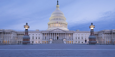 Sunrise at the United States Capitol Building in Washington, District of Columbia Photographic Print by Jeff Mauritzen