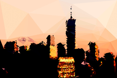 Low Poly New York Art - 1 WTC Sunset Prints by Philippe Hugonnard