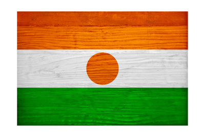 Niger Flag Design with Wood Patterning - Flags of the World Series Posters af Philippe Hugonnard