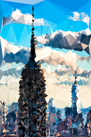 Low Poly New York Art - Empire State Building and Skyline Art by Philippe Hugonnard