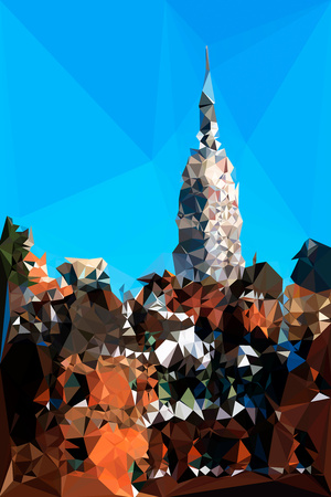 Low Poly New York Art - Empire State Building IV Poster by Philippe Hugonnard