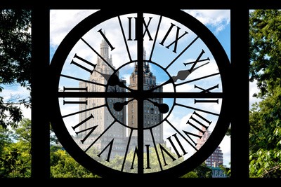Giant Clock Window - View on Central Park West - San Remo Photographic Print by Philippe Hugonnard