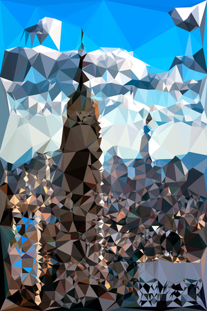 Low Poly New York Art - The Empire State Building and City II Posters by Philippe Hugonnard