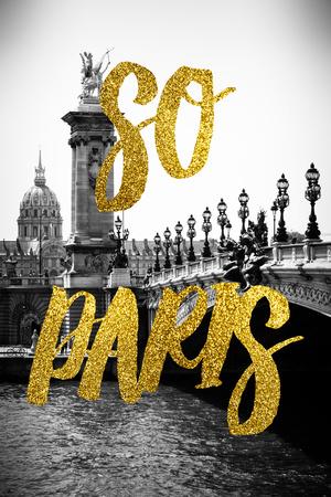 Paris Fashion Series - So Paris - Alexandre III Bridge Photographic Print by Philippe Hugonnard