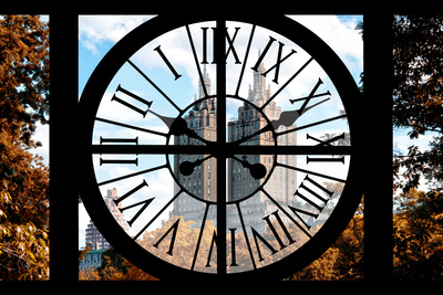 Giant Clock Window - View on Central Park West - San Remo III Photographic Print by Philippe Hugonnard