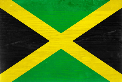 Jamaica Flag Design with Wood Patterning - Flags of the World Series Art by Philippe Hugonnard
