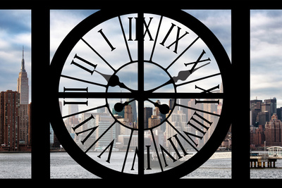 Giant Clock Window - View on the New York Photographic Print by Philippe Hugonnard