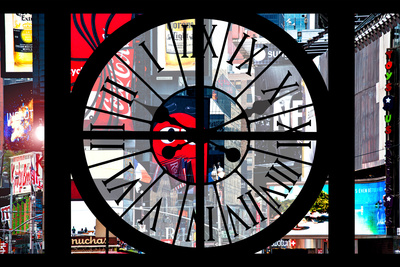 Giant Clock Window - View of Times Square - Manhattan Photographic Print by Philippe Hugonnard
