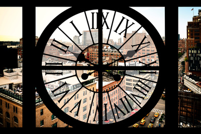 Giant Clock Window - View on Chelsea Market - Meatpacking District Photographic Print by Philippe Hugonnard