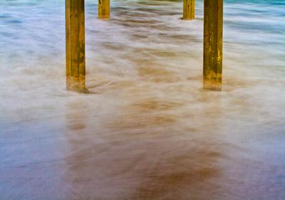 Under Ocean Beach Pier Prints by Lee Peterson