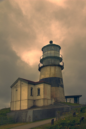 Cape Disappointment Lighthouse Art by George Johnson