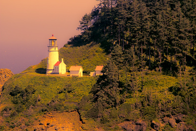 Heceta Head Lighthouse Prints by George Johnson