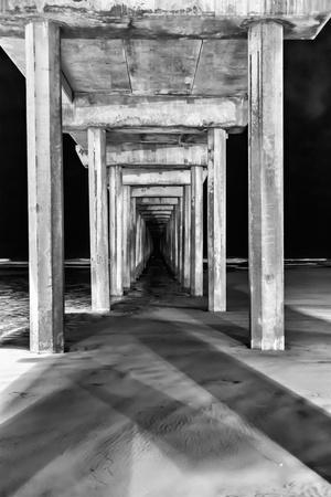 Under Scripps Pier Prints by Lee Peterson