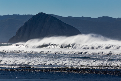 Morro Rock Waves Posters by Lee Peterson
