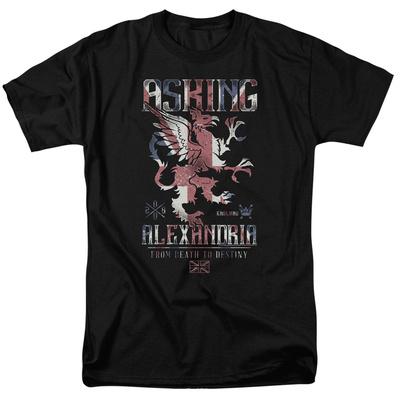 Asking Alexandria- Death To Destiny Crest T-shirts