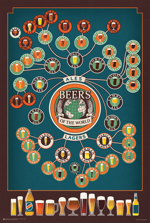 Beers of the World Flow Chart Posters