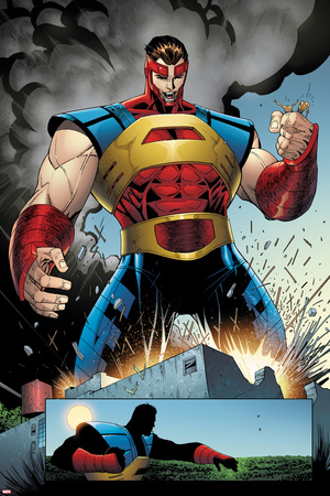 Thunderbolts No. 2 Panel Featuring Atlas Poster by Jon Malin